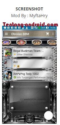 BBM Mod METAL For Android Versi 2.9.0.45 Apk + Free Sticker Terbaru
