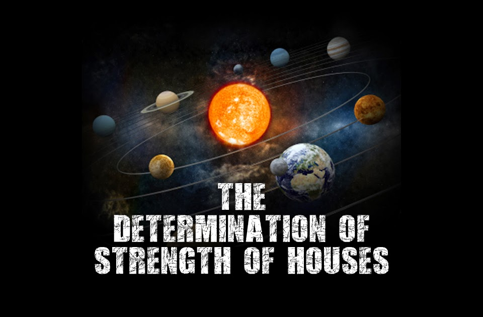The determination of strength of houses