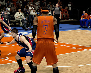 NBA 2K13 New York Knicks Orange Christmas Jersey Patch