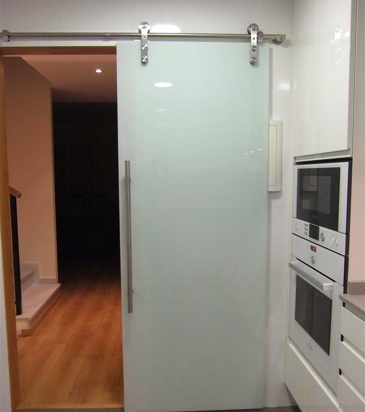 Manivelas para puerta puertas correderas de cristal para tu cocina - Puerta cristal cocina ...