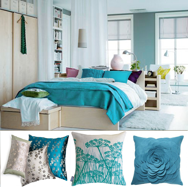 Decorating ideas wall paint living rooms turquoise for Turquoise bedroom designs