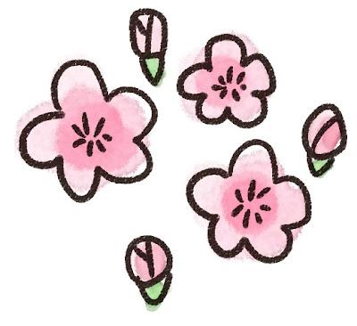 桃の花のイラスト(花)