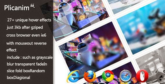 Picanim - jQuery image hover effect pulgin