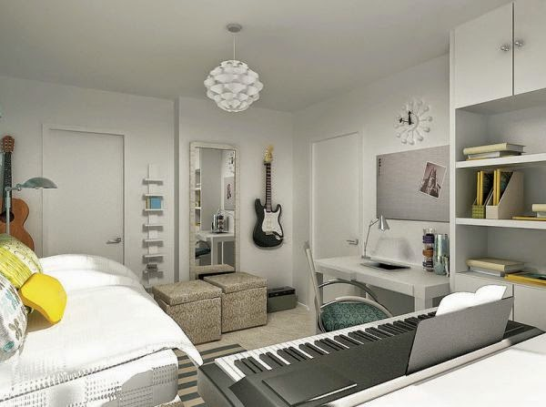 Dormitorios juveniles tema m sica dormitorios colores y for Colores para dormitorios de pareja