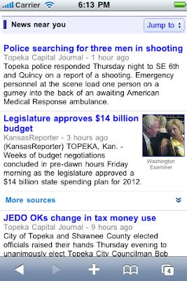 Novosti blizu vas na mobilni Google News