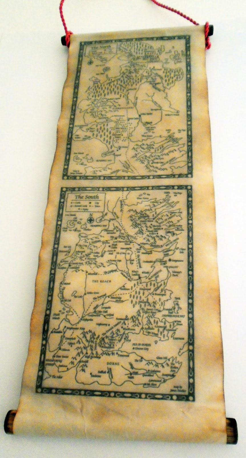 image relating to Printable Map of Westeros referred to as Land of Scrolls: Map of Westeros The North and The South