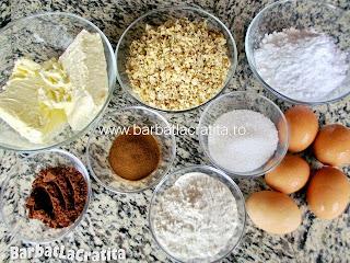 Tort cu nuca lista cu ingredientele necesare retetei