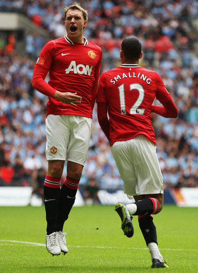 Smalling and Jones in Manchester United