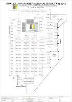 Map plan Pay Less Books Fair KLIB 2012