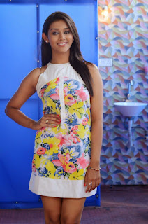 Actress Pooja Jhaveri Latest Picture Shoot Gallery in Floral Short Dress  042