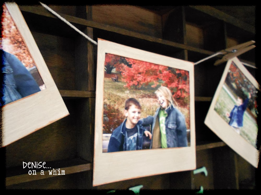 These New Chipboard Frames have the Appareance of an Old Polaroid Now via http://deniseonawhim.blogspot.com