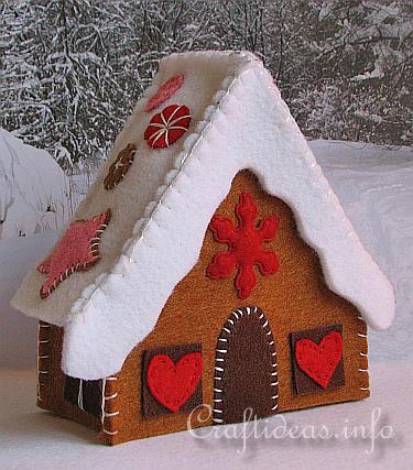 Пряничные домики из фетра своими руками