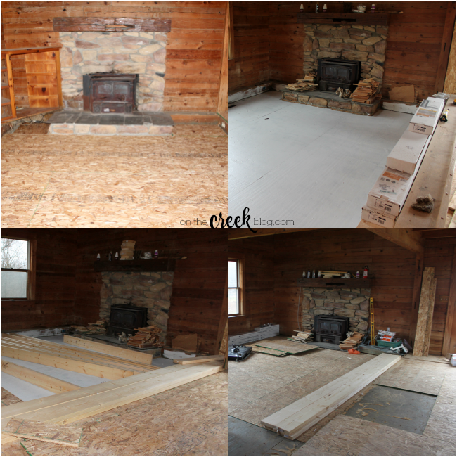 building a living room floor