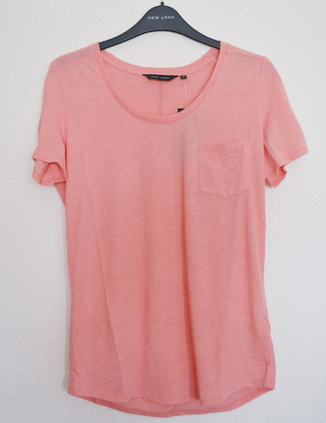 new look pink pocket t shirt