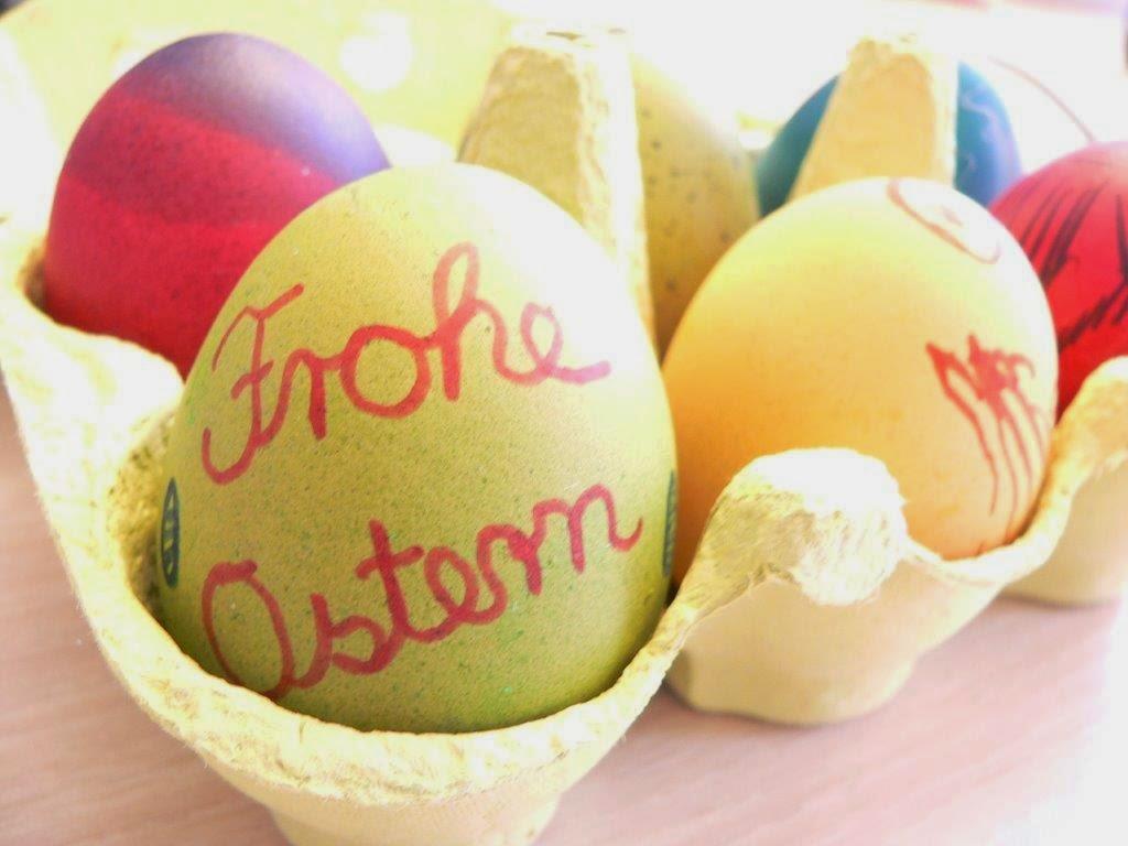 Frohe Ostern bunt eier