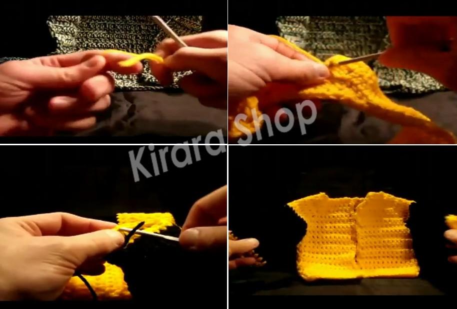 Baby Sweater Crochet, Video Panduan Merajut baju hangat