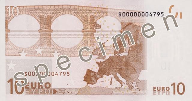 Retro vecchia banconota 10€