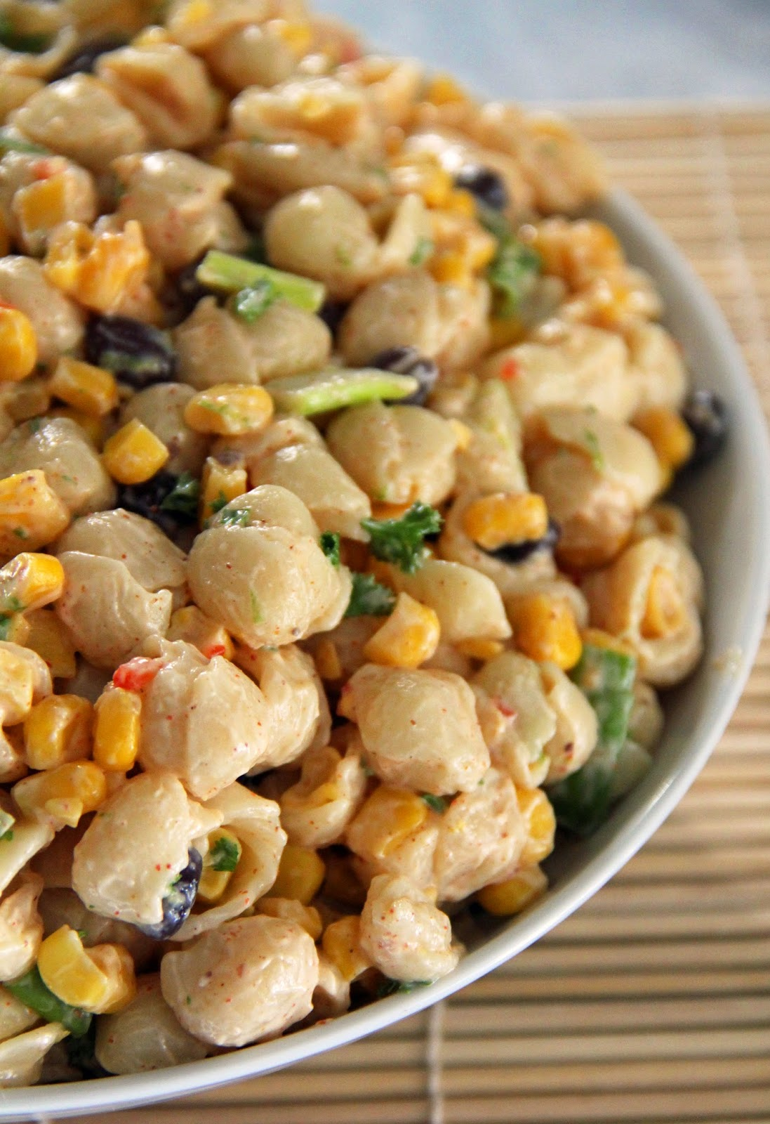 ... and Sue: Spicy Southwest Pasta & Corn Salad With Chili Lime Dressing