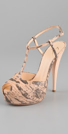 Womens Shoe of the Month Feb 2012- Giuseppe Zanotti Faux Lizard T Strap Sandals