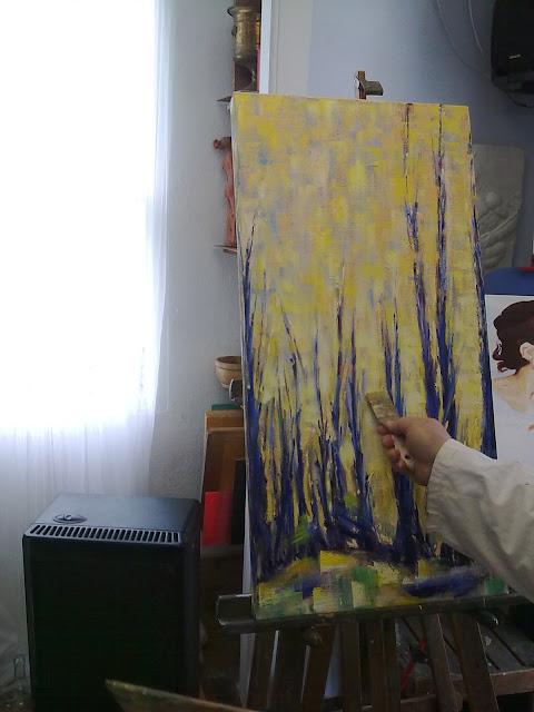 Pintura al oleo impresionista