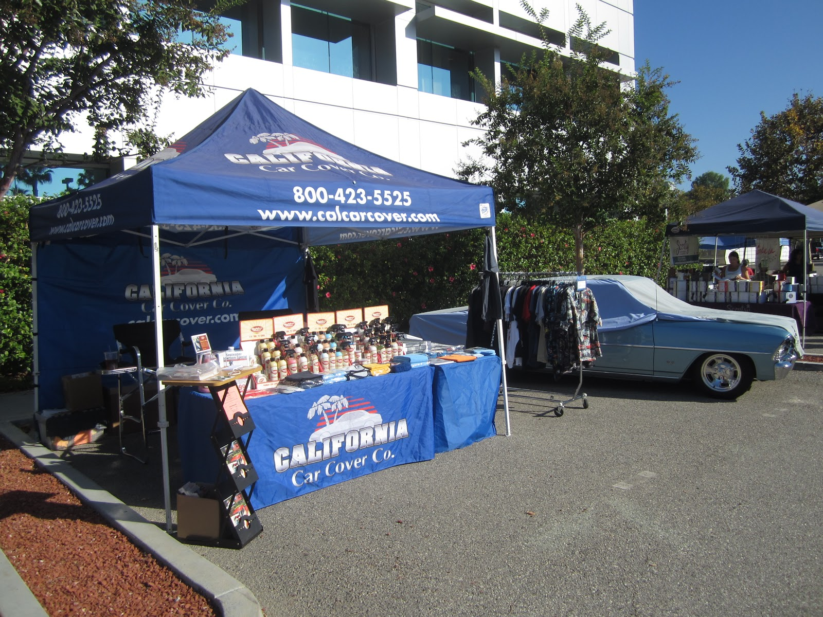 Covering Classic Cars LAFD Charity Car Show West Hills Ca - Car show booth