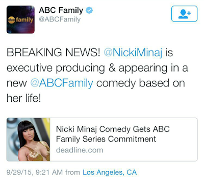 Nicki Minaj gets half an hour Tv Comedy series on ABC