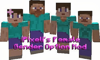 Female Gender Mod para Minecraft 1.8