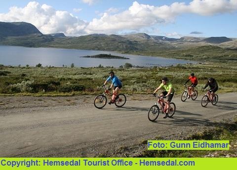 Hemsedal byr på flotte muligheter til sykkelturer i flotte omgivelser
