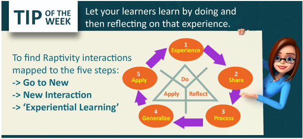 Tip of the Week: Follow the Experiential Learning Model for your course