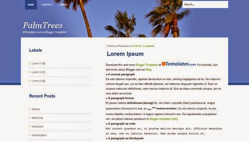 PalmTrees - Free Blogger Template