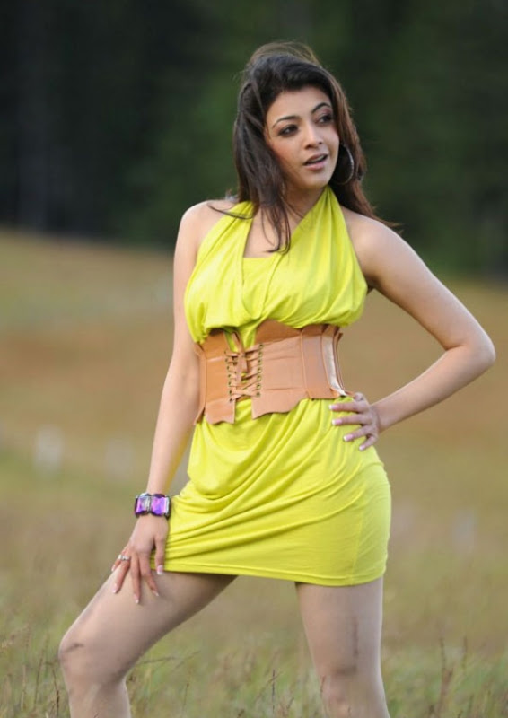 Spicy Kajal Agarwal In Hot Mood Yellow Dress Latest Stills Photos Photoshoot images