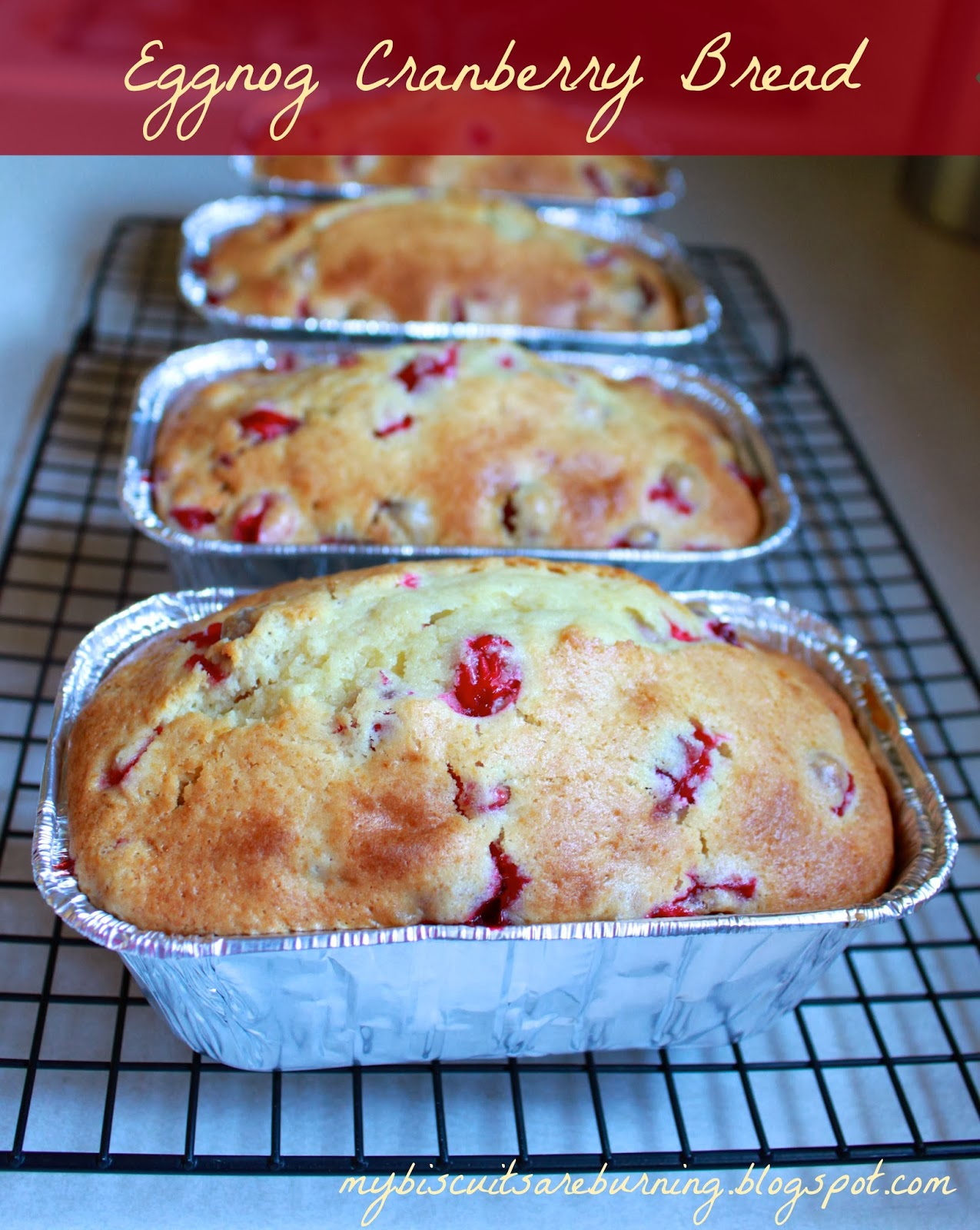 EGGNOG CRANBERRY BREAD MY BISCUITS ARE BURNING