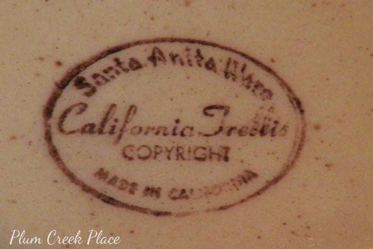 Vintage Fall Tablescape - Santa Anita Ware California Trellis