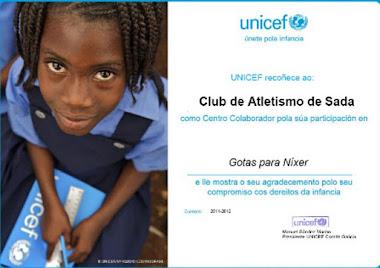 Reconocimiento de UNICEF al Club Atletismo Sada