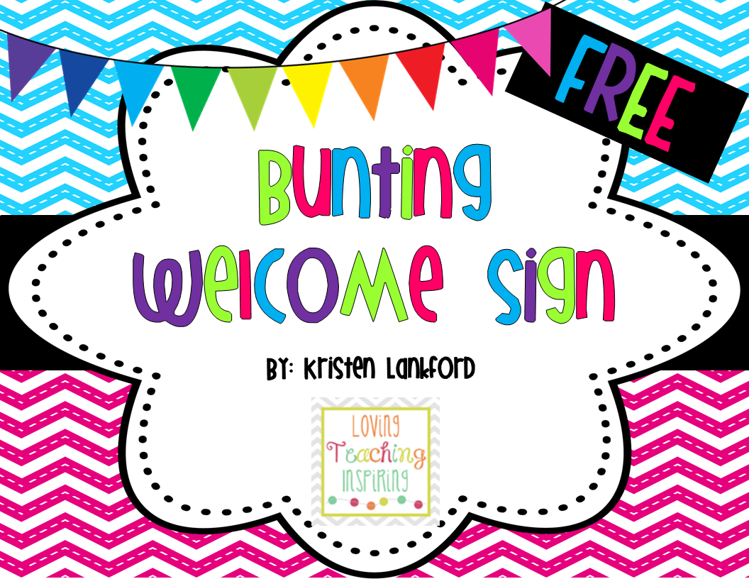 http://www.teacherspayteachers.com/Product/Bright-Chevron-Welcome-Sign-Bunting-1303336