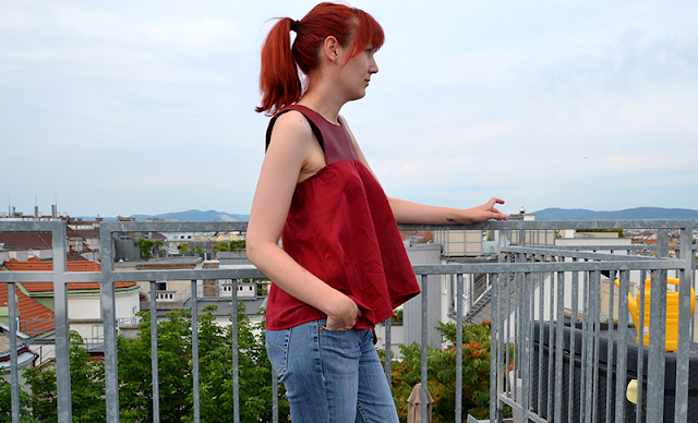 Rotes Shirt | Upcycling | freinaht.blogspot.com