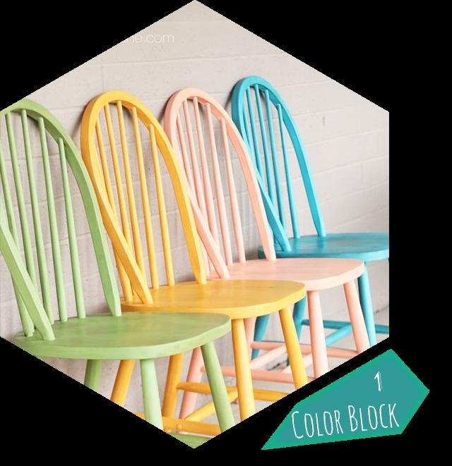 D co 10 id es diy pour relooker chaises et tabourets justagirl - Peinture chaise bois ...