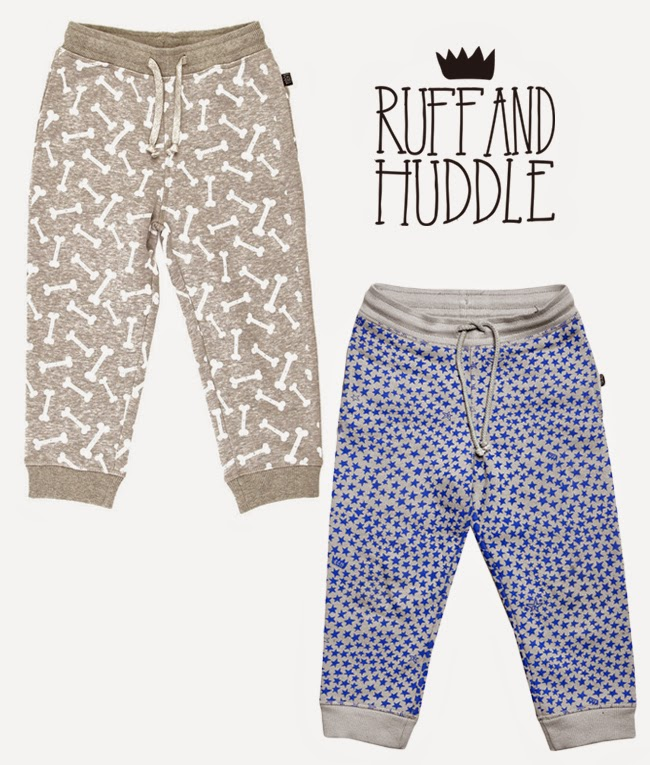 Cool  unisex sweat pants by Ruff and Huddle for spring 2014 kidswear collection