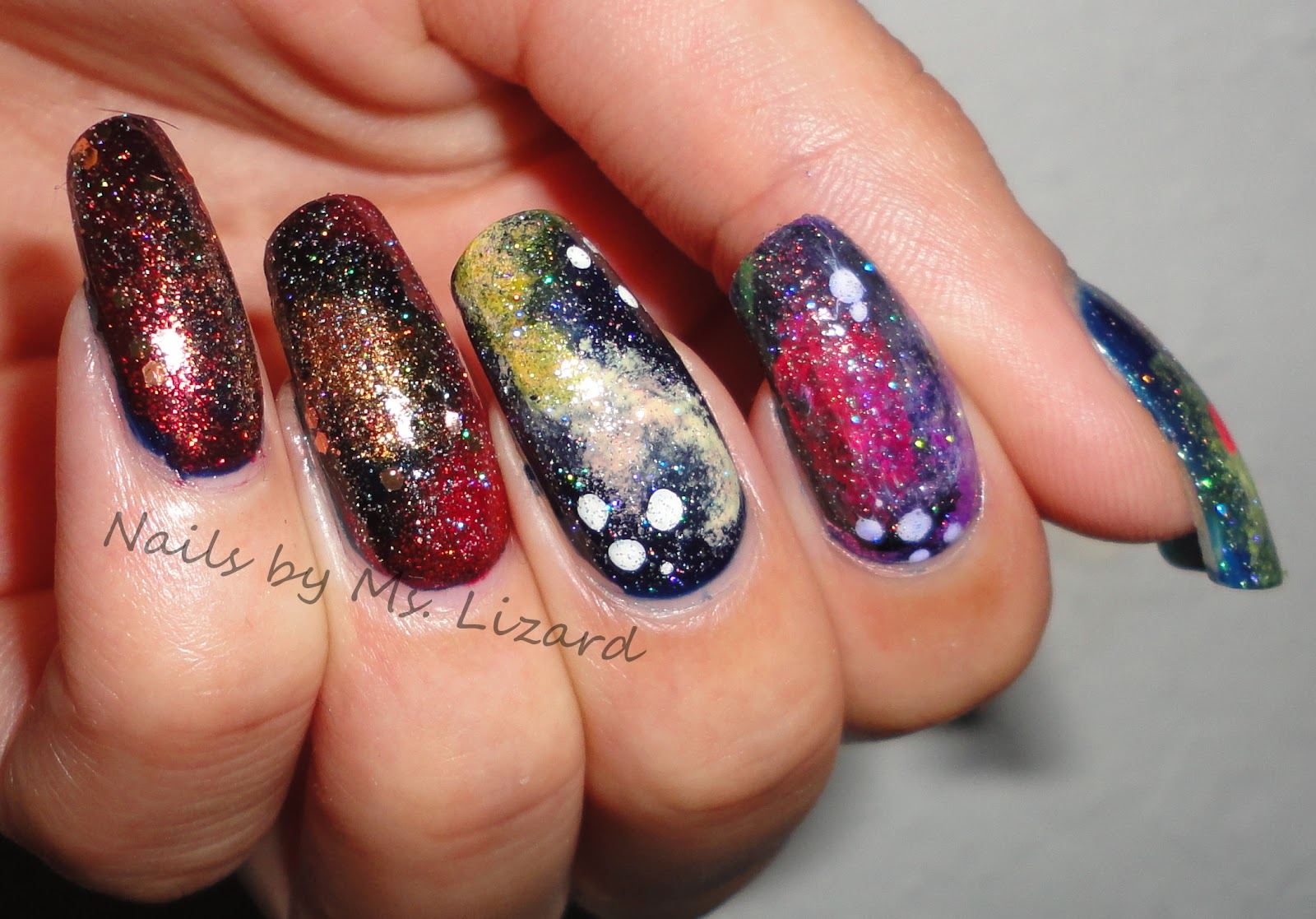 Nails by Ms. Lizard: Artsy Wednesday: Galaxy Nails