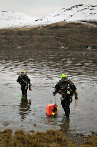 Winter diving at Loch Long with my daughter