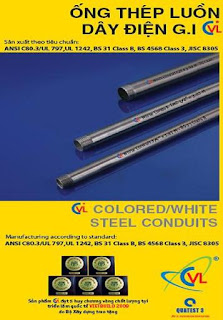 BS 4568 white steel conduit - Cát Vạn Lợi Co