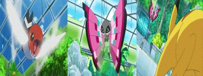 ¡Combate decisivo sobre hielo! ¡¡Pikachu VS Vivillon!!