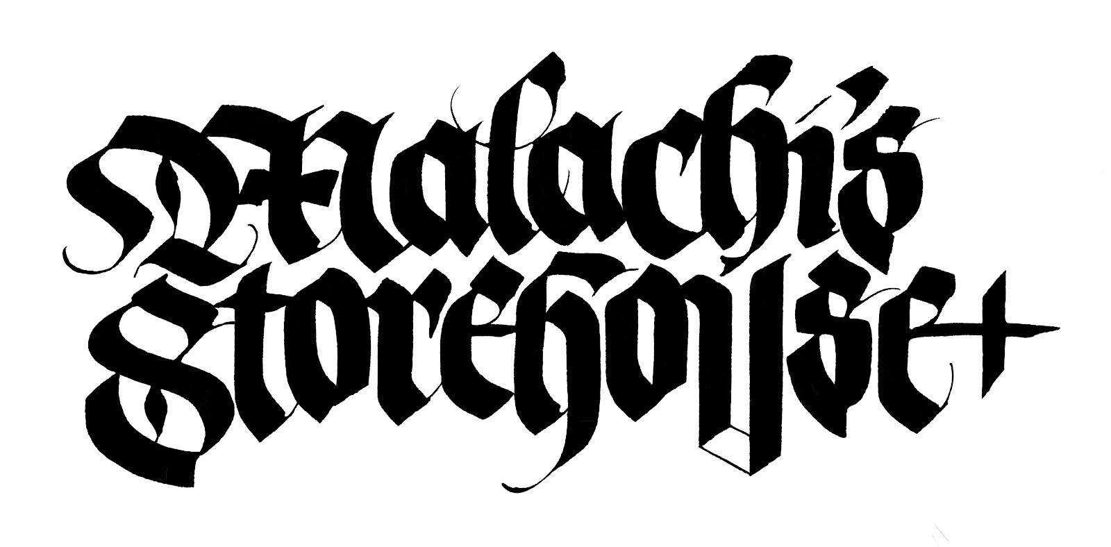 Anne Elser Blackletter Logotype