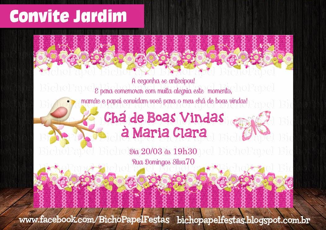 Arte Convite Jardim