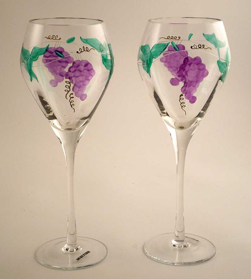 Teaberry treasures august 2012 Images of painted wine glasses