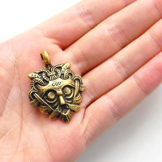 кулон маска одина ювелирные изделия латунь бронза серебро