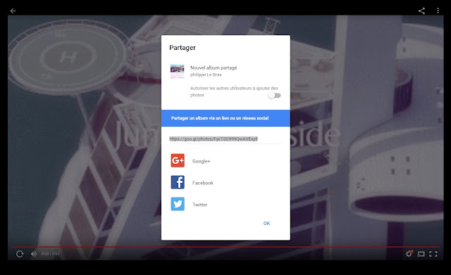 le logiciel photos;google est lui aussi simple et efficace , partage enregistrements