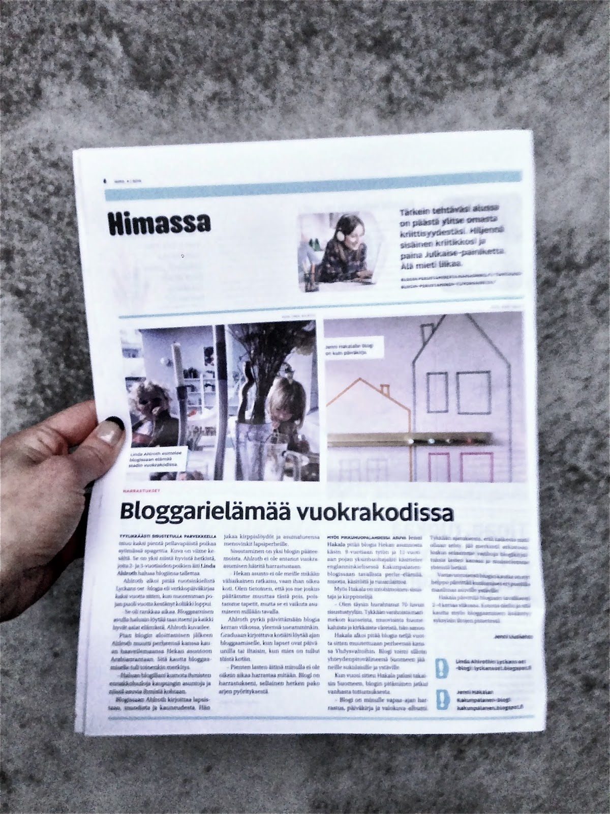 Asukaslehti Hima, Hima lehti 4/2014, Stadin asunnot