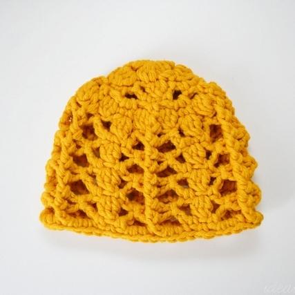 Elaborate Spring Beanie 3-6 months free crochet pattern