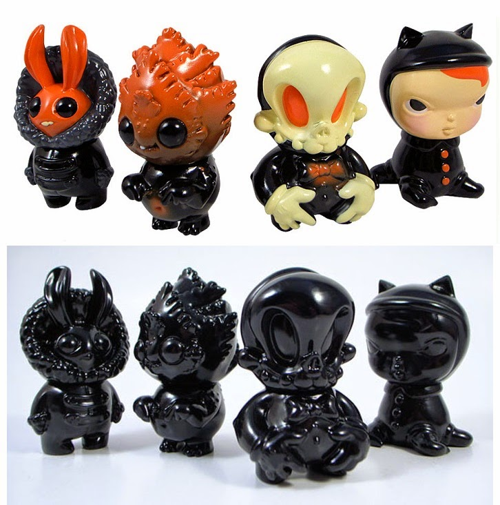 "Black & Red ""Chibi"" Pocket Sideshow Mini Figure Series by Circus Posterus"